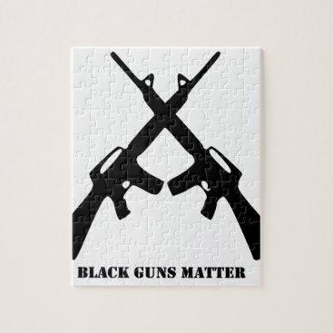 Black Guns Matter Jigsaw Puzzle