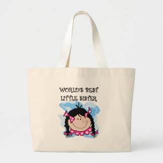 Black Hair Best Little Sister Tshirts and Gifts Jumbo Tote Bag