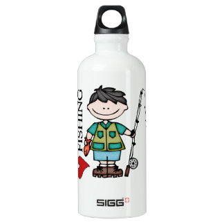 Black Hair Boy I Love Fishing SIGG Traveler 0.6L Water Bottle