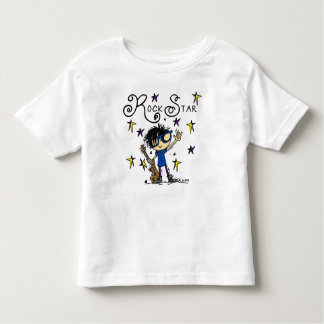 Black Hair Boy Rock Star Toddler T-shirt