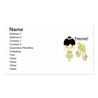 Black Hair Dancer Double-Sided Standard Business Cards (Pack Of 100)