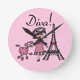 Black Hair Diva Clock