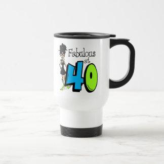 Black Hair Fabulous at 40 Birthday Coffee Mugs