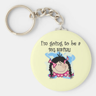 Black Hair Future Big Sister Tshirts and Gifts Basic Round Button Keychain