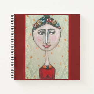 Black hair girl notebook