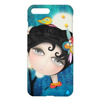 Black hair Huge eyes Portrait iPhone 8 Plus/7 Plus Case