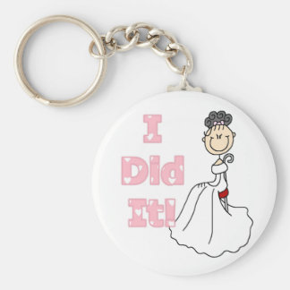 Black Hair I Did It Bride T-shirts and Gifts Keychains
