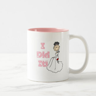Black Hair I Did It Bride T-shirts and Gifts Two-Tone Coffee Mug