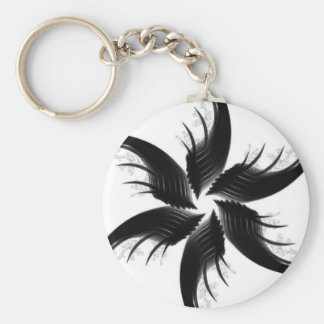 BLACK HAIR KEYCHAIN