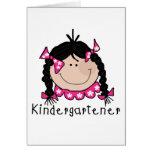 Black Hair Kindergartener Card