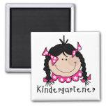 Black Hair Kindergartener Fridge Magnet