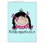 Black Hair Kindergartener Greeting Cards