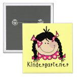 Black Hair Kindergartener Pin