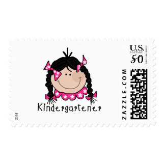 Black Hair Kindergartener Postage