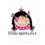 Black Hair Kindergartener Postcard