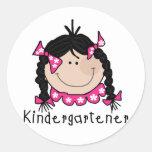 Black Hair Kindergartener Sticker