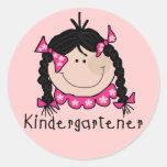 Black Hair Kindergartener Stickers