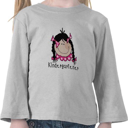 Black Hair Kindergartener T Shirt