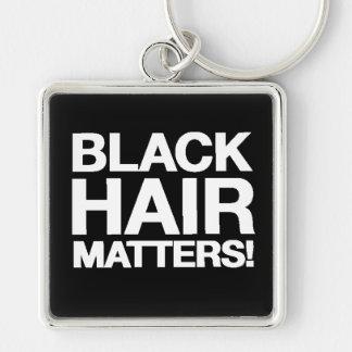 Black Hair Matters Premium Square Keychain