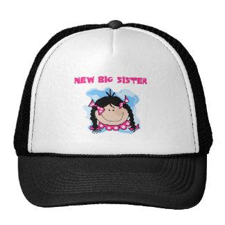 Black Hair New Big Sister Tshirts and Gifts Mesh Hats