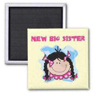 Black Hair New Big Sister  Tshirts and Gifts Magnet