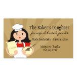 Black hair woman baking chef flour business cards