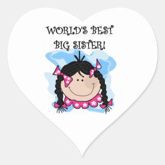 Black Hair World's Best Big Sister Gifts Sticker