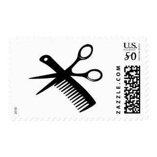 black hairdresser comb scissors postage