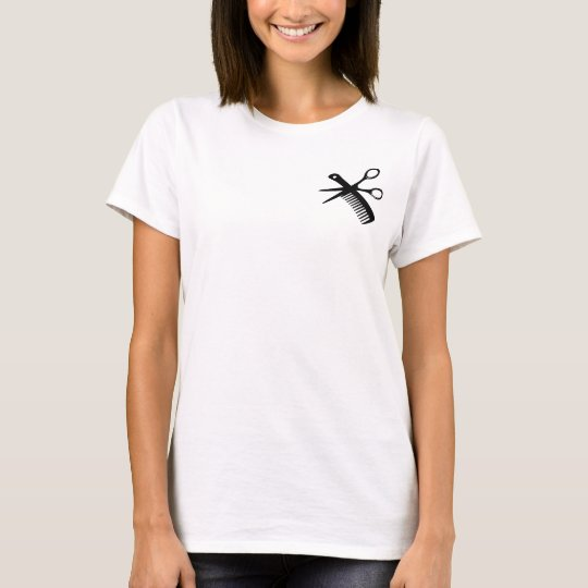 black hairdresser comb scissors T-Shirt