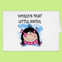 Black Haired Best Little Sister Card