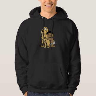 black haired boy with big dog hoodie