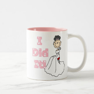 Black Haired Bride I Did It Two-Tone Coffee Mug