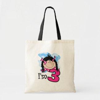 Black Haired Girl I'm Three Bag