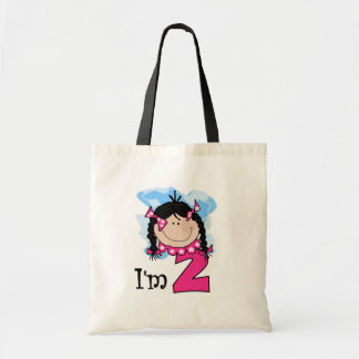 Black Haired Girl I'm Two Canvas Bags