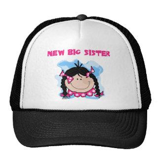 Black Haired Girl New Big Sister Mesh Hat