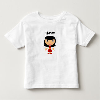 Black Haired Girl With Red Shoes Toddler T-shirt