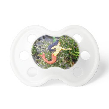 Beach Themed black-haired sirena mermaid pacifier