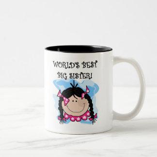 Black Haired World s Best Big Sister Coffee Mug