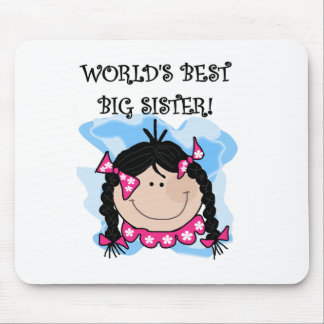 Black Haired World's Best Big Sister Mouse Pad