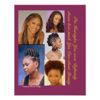 Black Hairstyles Poster