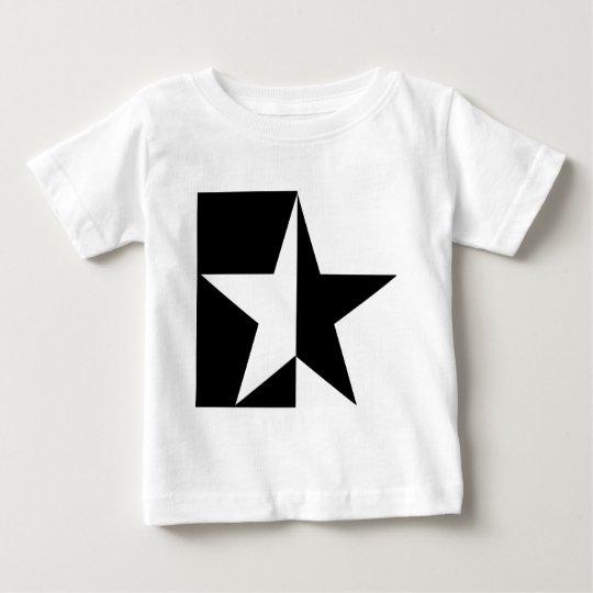 black half star icon baby T-Shirt