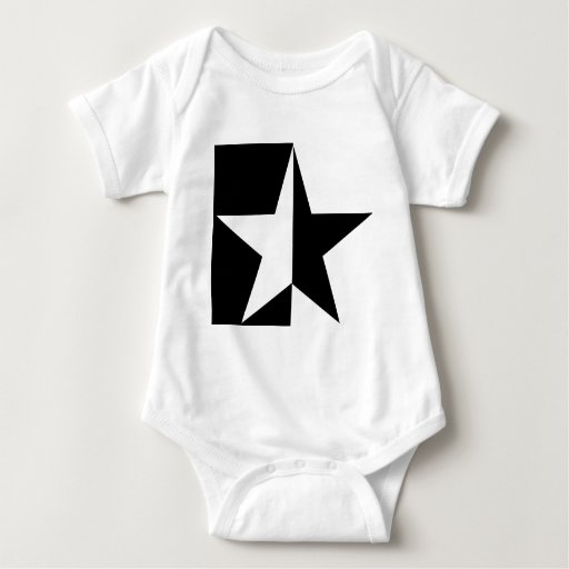 black half star icon tee shirts
