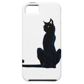 black halloween cat iPhone 5 case