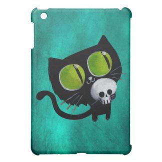 Black Halloween Cat with Skull iPad Mini Cover