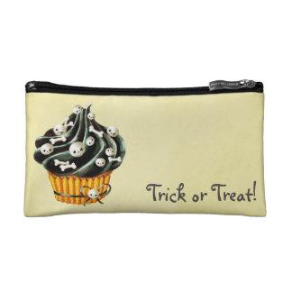 Black Halloween Cupcake Cosmetic Bag