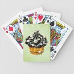 Black Halloween Cupcake Bicycle Playing Cards