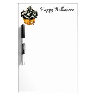 Black Halloween Cupcake Dry-Erase Whiteboard