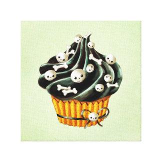 Black Halloween Cupcake Gallery Wrap Canvas