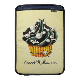 Black Halloween Cupcake MacBook Sleeve