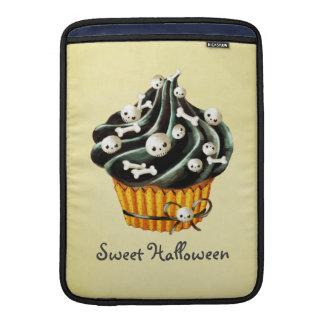 Black Halloween Cupcake MacBook Sleeves